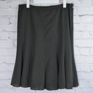 ARMANI Wool Paneled Trumpet Skirt
